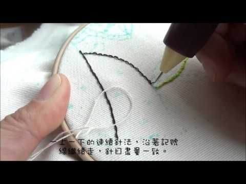 俄羅斯刺繡-技法-平針繡 Punch Needle -Technique-Back Stitch - https://www.youtube.com/watch?v=IDRlc7rgKUI