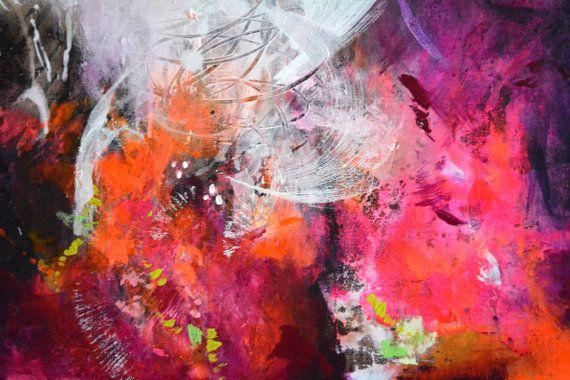 Título: Álbum de poesía  Original arte pintura de acrílico sobre lienzo.  +++++++++++++++++++++++++++++++++++++++++++++  ESTIRÓ en marco de madera y listos para colgar  +++++++++++++++++++++++++++++++++++++++++++++  TAMAÑO: 60 x 80 cm (23,62 pulgadas x 31,5), el lienzo es 8/10 pulgadas de profundo.  Una capa clara brillante se ha aplicado a la superficie para proteger la pintura de luz UV, humedad y polvo. Las grapas están en la parte posterior y los bordes están pintados con un color de...
