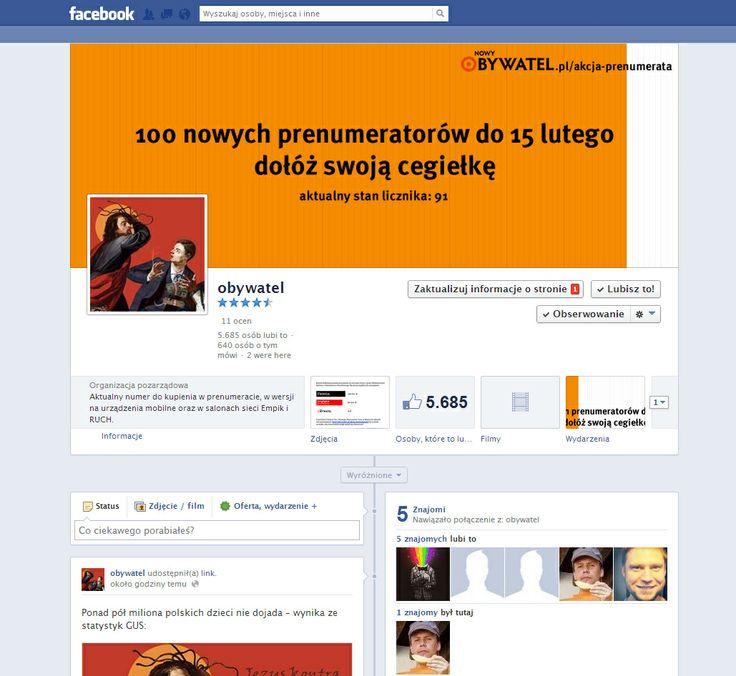 Profil Stowarzyszenia Obywatele Obywatelom z Łodzi - współpracujemy od ponad roku w zakresie obsługi płatnych reklam promujacych posty do określonych grup docelowych.