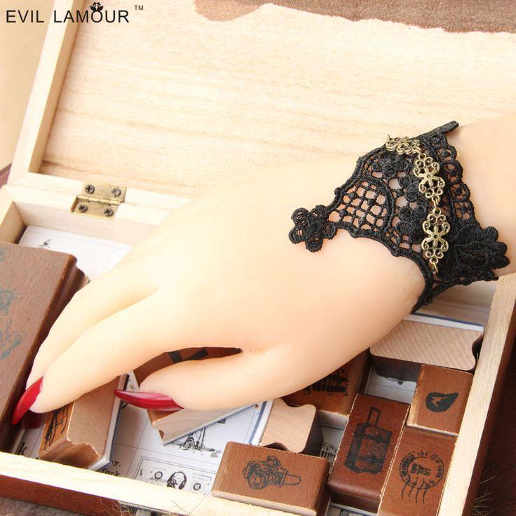 Принцесса готическая Лолита Мода старинные кружева женский браслет ювелирных изделий подарок на день рождения сексуальные королевские аксессуары