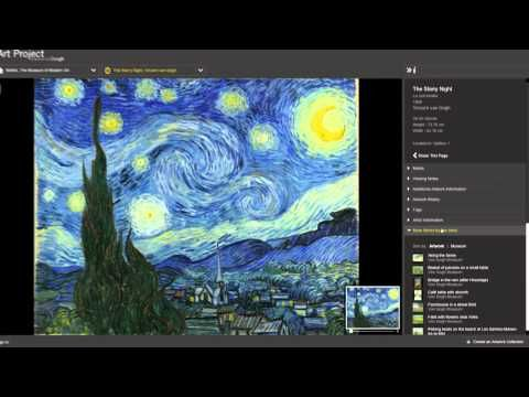 Amazing. ART PROJECT powered by Google is an online compilation of high-resolution images of artworks from galleries worldwide, as well as a virtual tour of the galleries in which they are housed.