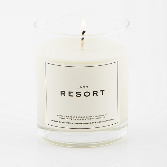 Our LAST RESORT candle. Organic lime, coconut and vanilla.