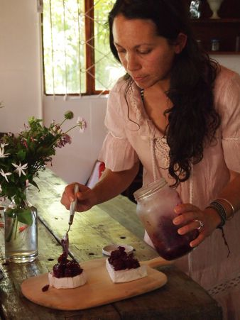 Beetroot and wild berry relish. Roushanna Gray of Forage Harvest Feast.