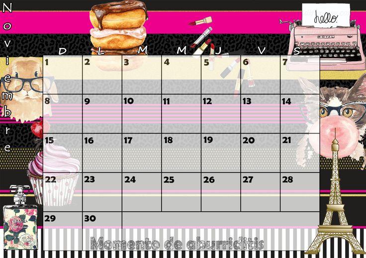Calendario mensual 2015 - Noviembre