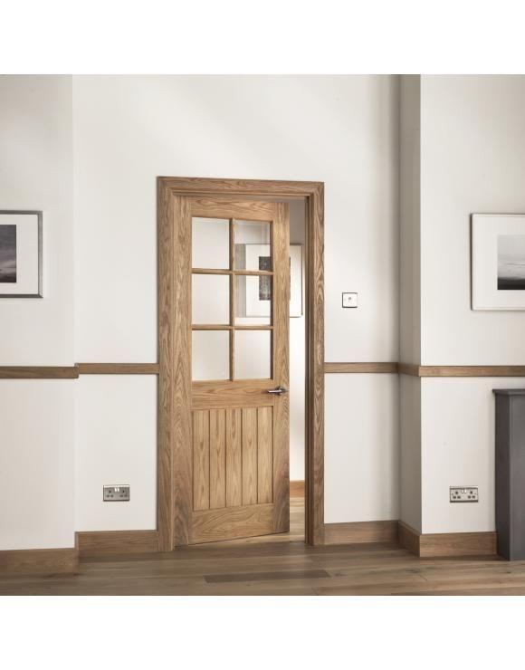 The Abbotsfield Range Of Oak Doors From Is An Extremely Popular Choice Thanks To Its Modern Desig Oak Interior Doors Internal Glazed Doors Internal Glass Doors
