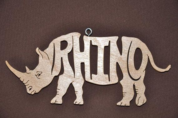 Hey, I found this really awesome Etsy listing at https://www.etsy.com/listing/203524531/rhino-rhinoceros-animal-ornament-wooden