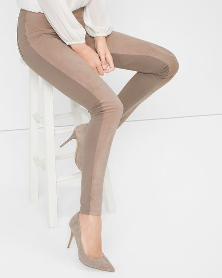 Any suede/color blocked Leggings. size small