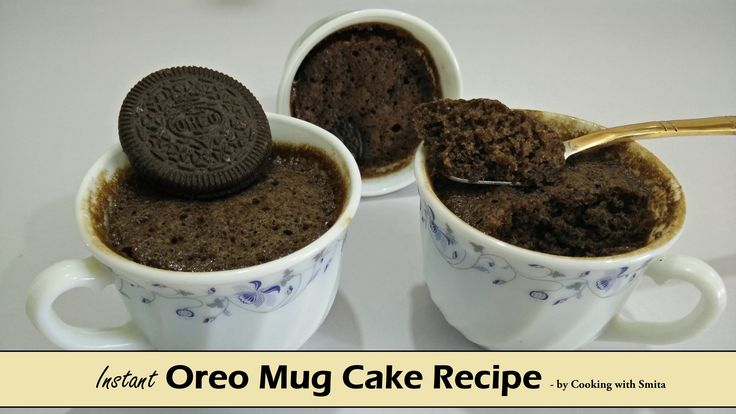 "Instant Oreo Mug Cake Recipe in Hindi by Cooking with Smita | Eggless Mu...  Instant Oreo Mug Cake Recipe - Eggless  Mug cakes are great when you want to make instant cake and Oreo Mug Cake recipe is perfect when you have very little time.  This Mug Cake is fluffy, sweet and it gets ready in just 2 minutes. Watch my video recipe of ""How to make Eggless Instant Oreo Mug Cake"" on YouTube"