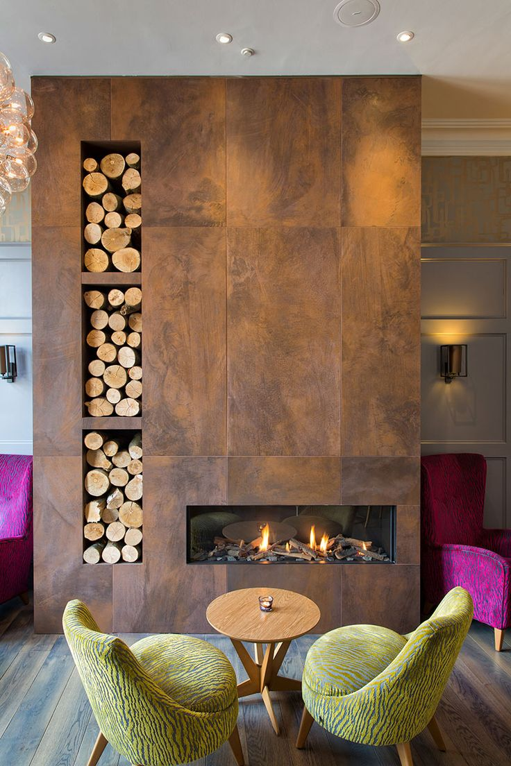 Beautiful tile clad fire place at Inn on the Square in Keswick. Tiles from  the  Fireplace ModernFireplace ...
