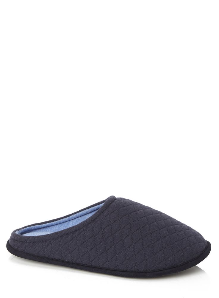 Navy Jersey Mule Slippers. Was £12, now £9.60. #FathersDay #FathersDayGifts #FathersDayGiftIdeas #MensFashion