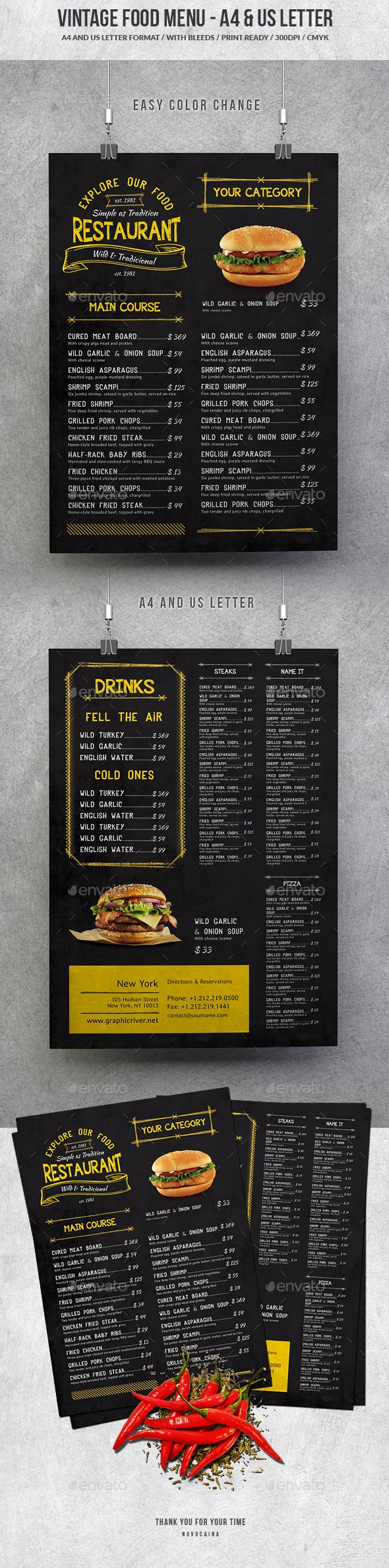 Best Restaurant Menu Design Images On   Menu