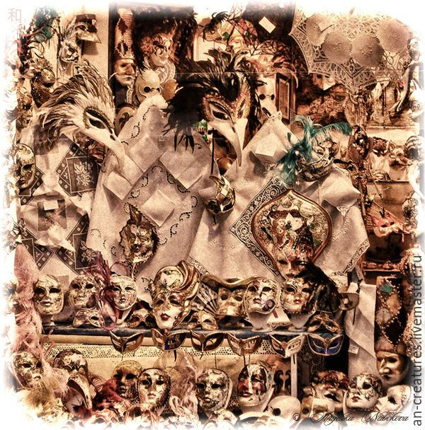Купить Винтажные изображения. Венецианские маски. - фотография, карнавал, венеция, маски, цифровое изображение, фотокартина