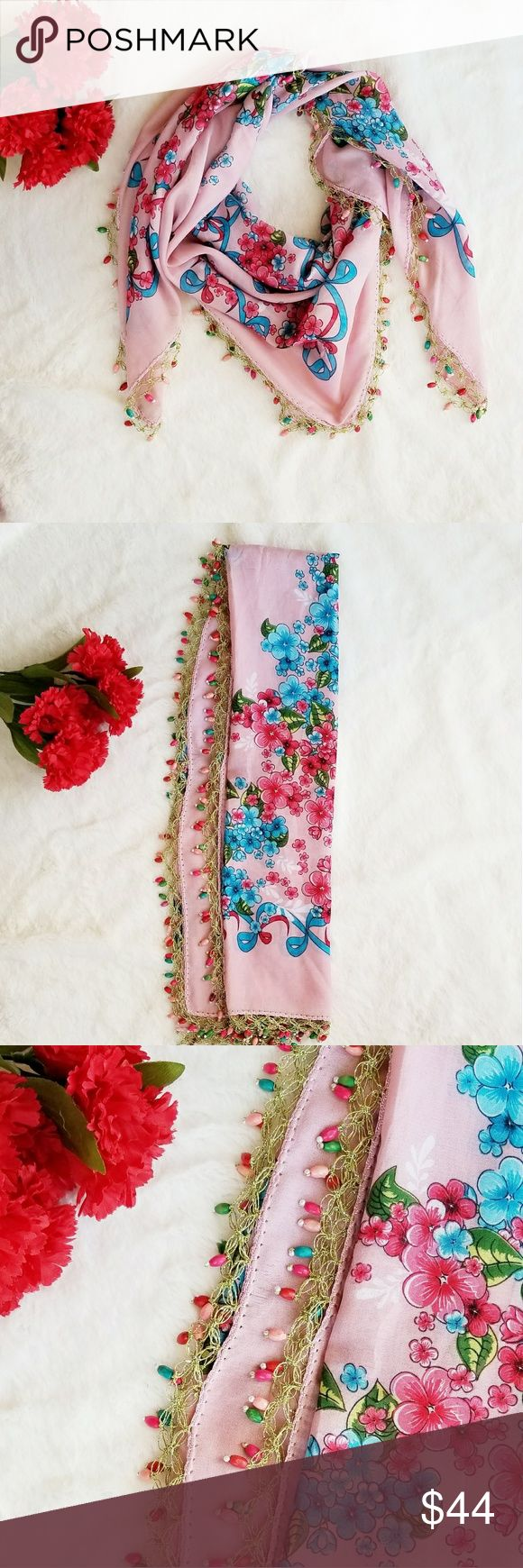 Best 25 Floral Scarf Ideas On Pinterest Spring Scarves