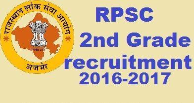 RPSC 2nd Grade Teacher Recruitment 2016, 6468 Sr. teacher vacancy online form