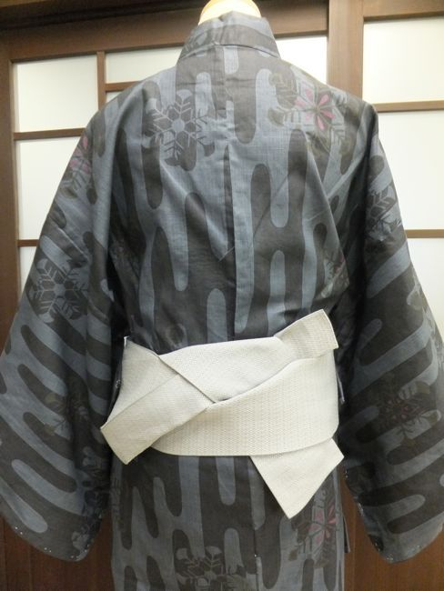 "Knots of kimono for men, one rank up more general Tied . ""Low-nin knot"""