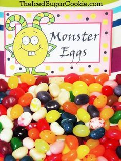 Monster Party-Monster Party Foods-Monster Birthday Parties-Little Monster Birthday-Monster Egg-DIY Monster bash birthday party food label tent cards-DIY by The…
