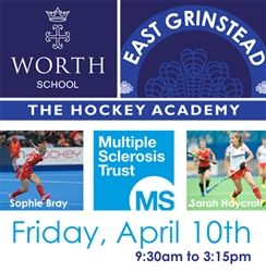 Our first Hockey Day Camp will be a charity event in aid of MS Trust.  Lead by Sophie Bray and Sarah Haycroft of England and Great Britain Hockey, this will be a great day of hockey in fabulous surroundings.  All proceeds go to MS Trust...  Click the picture to go to the booking page !