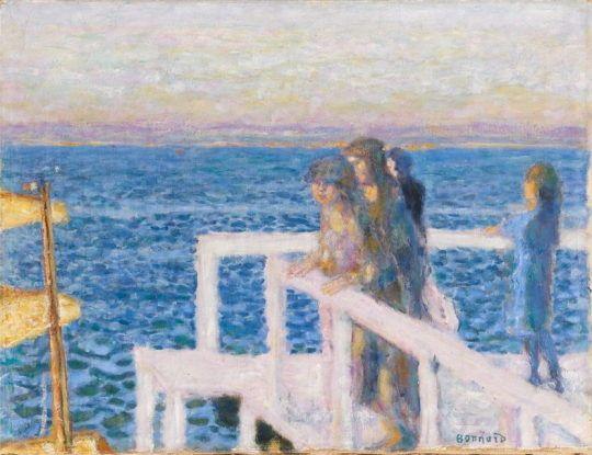 Pierre Bonnard (France 1867-1947)  Le Débarcadère (ou l'embarcadère) de Cannes (1928-1934)  oil on canvas 43,5 x 56,5 cm