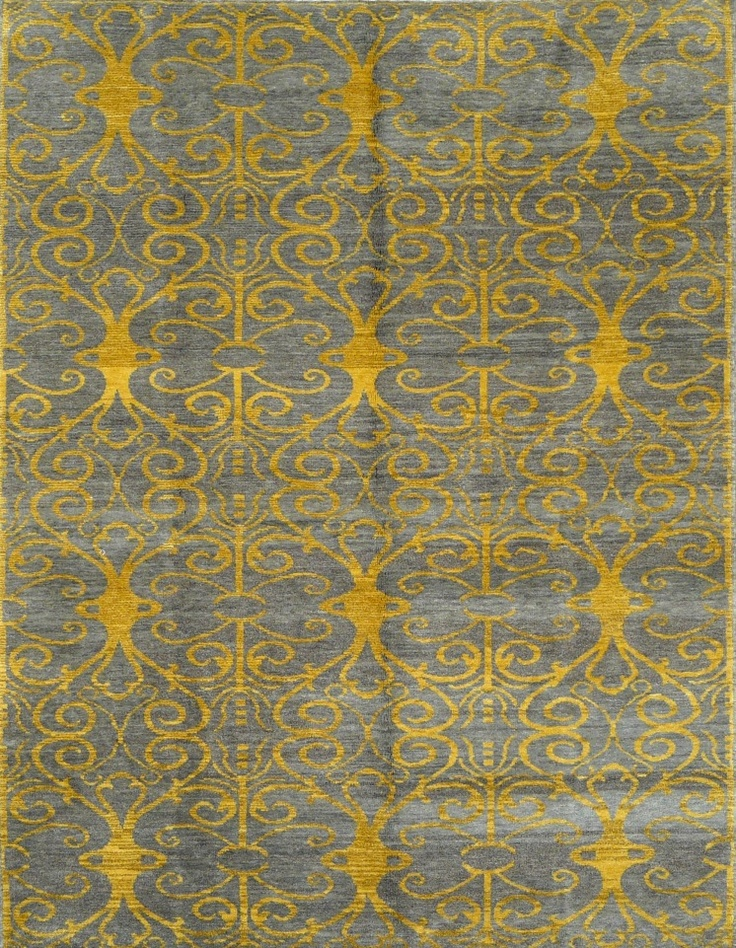 Yellow & Grey carpet from Muna Collection