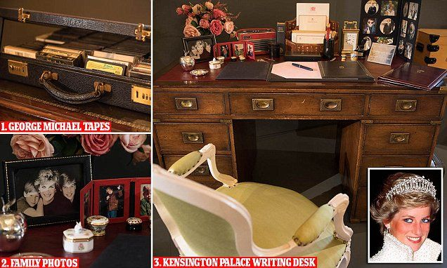 Princess Diana's belongings displayed at Buckingham Palace