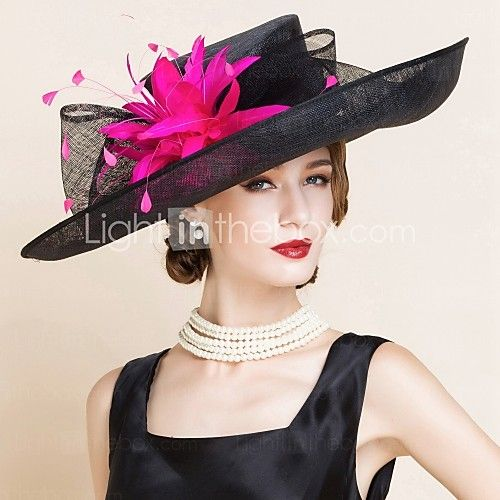 Women's Flax Headpiece-Wedding Special Occasion Hats 1 Piece - USD $52.69