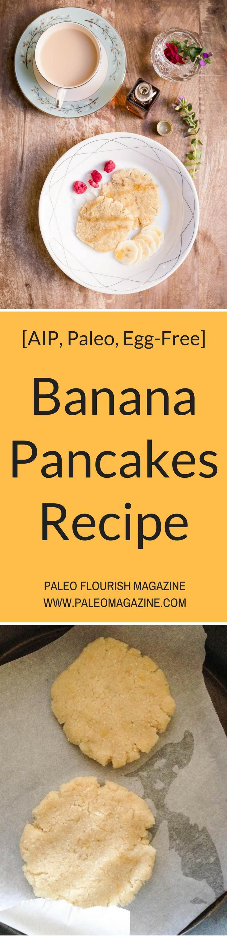 Banana Pancakes Recipe [AIP, Paleo, Egg-Free] #paleo #eggfree #aip #recipes - http://paleomagazine.com/paleo-aip-banana-pancakes-recipe
