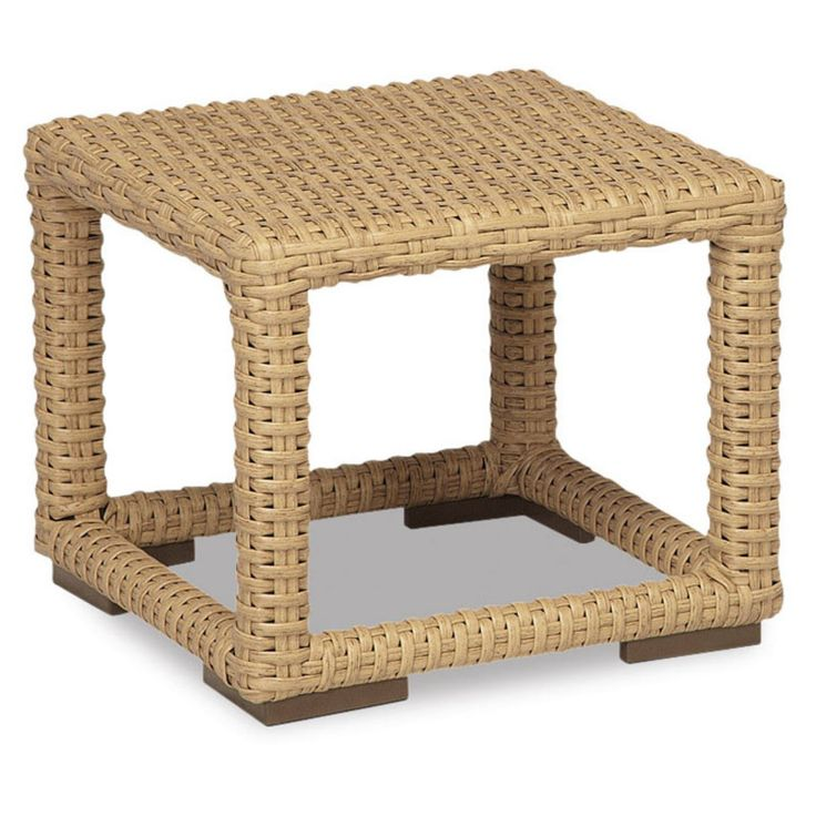 Outdoor Sunset West Leucadia Wicker Patio End Table - 2601-ET