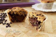 Muffin cookies cuore di Nutella