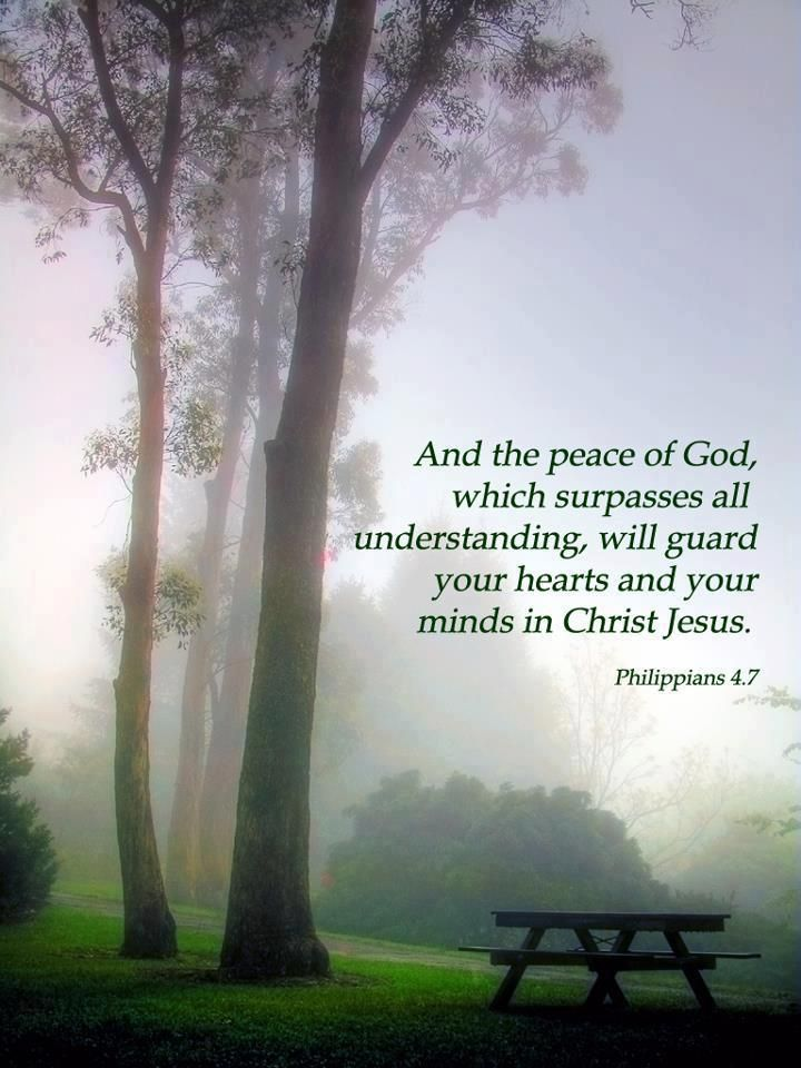 And the peace of God which surpasses all understanding....