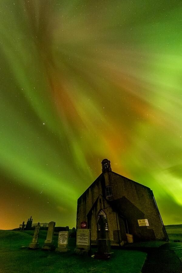 Shetland Islands & Aurora Borealis whee the color of the sky takes our breathe away