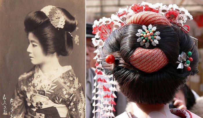 Шимада - традиционная прическа гейши.