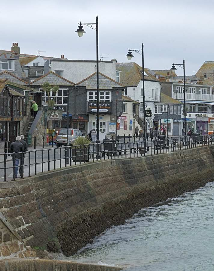 The Wharf, St Ives, Cornwall .... where I had a delectable Cornish pasty!!