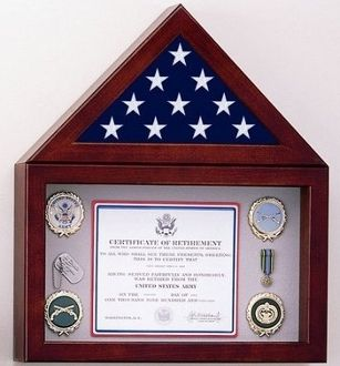 "Flag Display Case with a 10"" high Shadow Box"