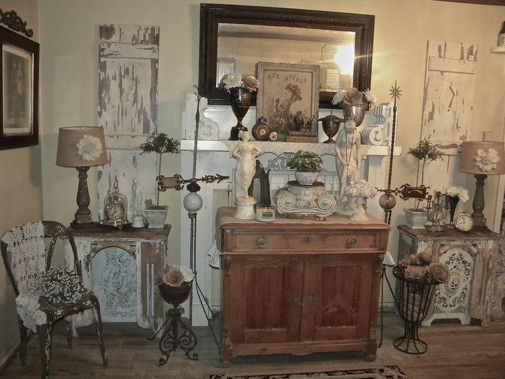 Antique Statues, Vintage Trophy's Rusty Found Treasures, Burlap Lamps, Etc