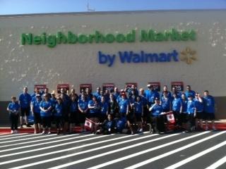 Check out this format! Walmart Canada Assocaites visit a Neighborhood Market in Arkansas.