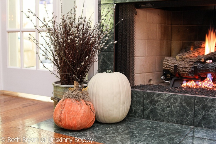 Fall And Thanksgiving Mantel Decorating Ideas Paint A Pumpkin With