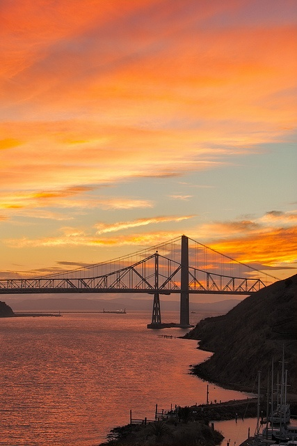 Carquinez Bridge, Vallejo, California...I could see this from my bedroom window.
