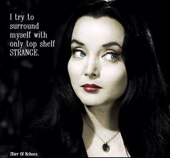 I try to surround myself, Addams Family