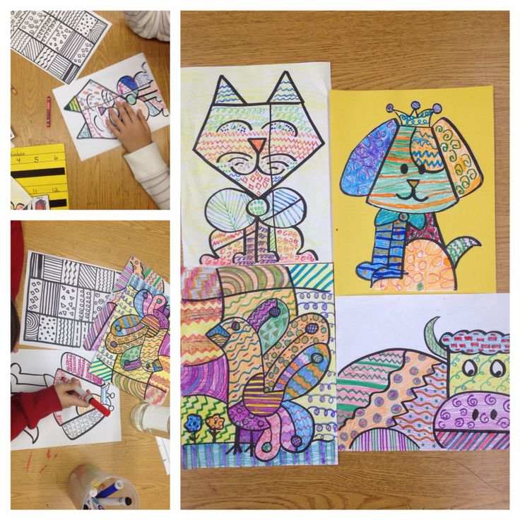 Line Art Elementary : Best images about st grade art projects on pinterest