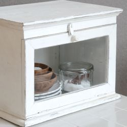 Ib Laursen Safe with glass - white
