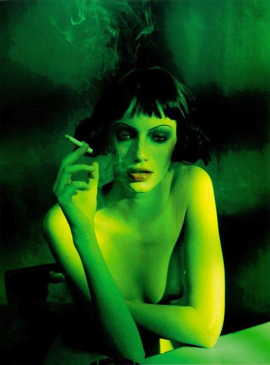 Milagros Schmoll by Peter Lindbergh for Visionaire