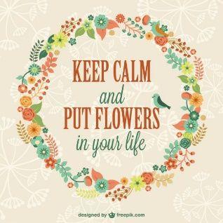 Ruhe bewahren Blumenschablone