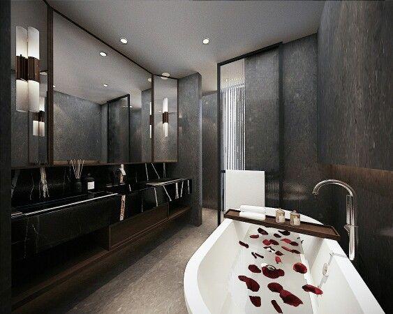 .tessutidesign.  .luxury bathroom.  https://www.instagram.com/p/BD80OoHtNxJ/