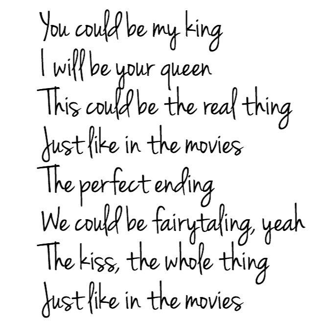 Just Like in the Movies- Jana Kramer lyrics