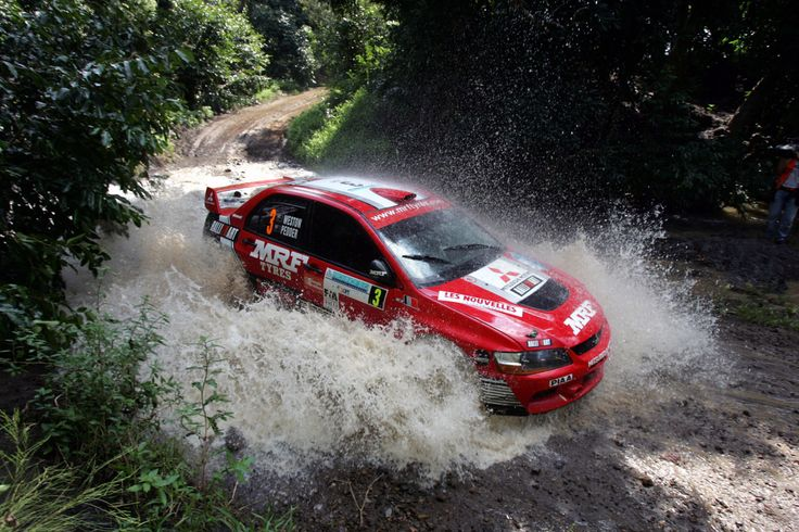 Mitsubishi Evo rally car