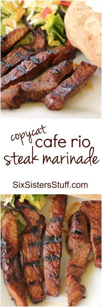 Cafe Rio Steak Marinade on Six Sisters' Stuff
