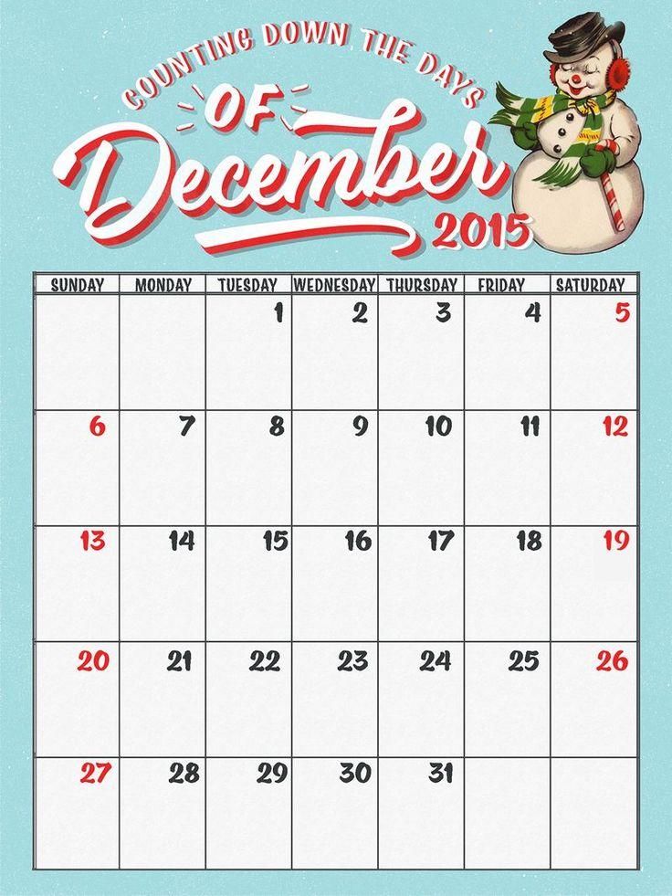 67 best December Daily images on Pinterest December, Christmas - daily calendar printable