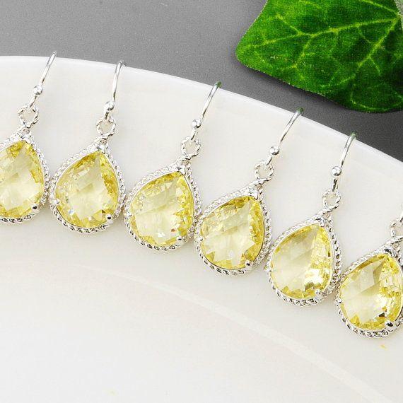 10 OFF SET OF 5 Wedding Jewelry  Yellow by MyDistinctDesigns, $117.00