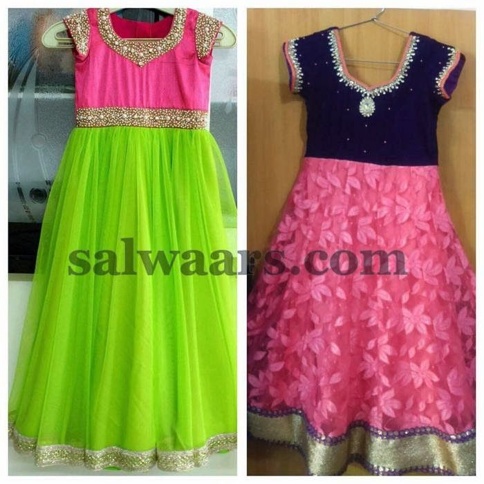 Pretty Long Frocks for Kids - Indian Dresses