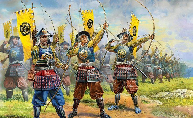 Ashigaru archers by Peter Dennis